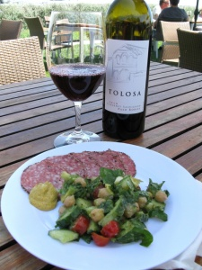 Chickpea Salad with Salami @ Tolosa Vineyard