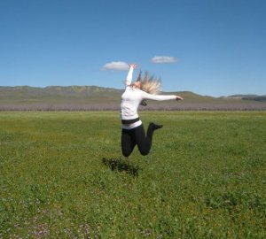 Get outside and jump for joy!