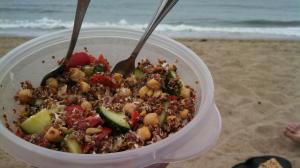 Quinoa Chickpea Beach Salad