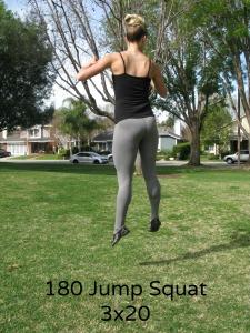 180 Squat Jump