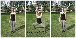 squat jumping jacks