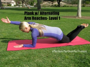 Plank w alternating reach