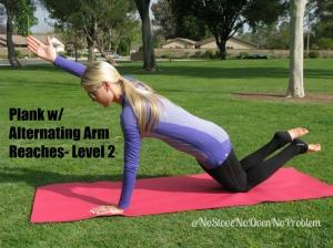 Plank w alt arm reaches