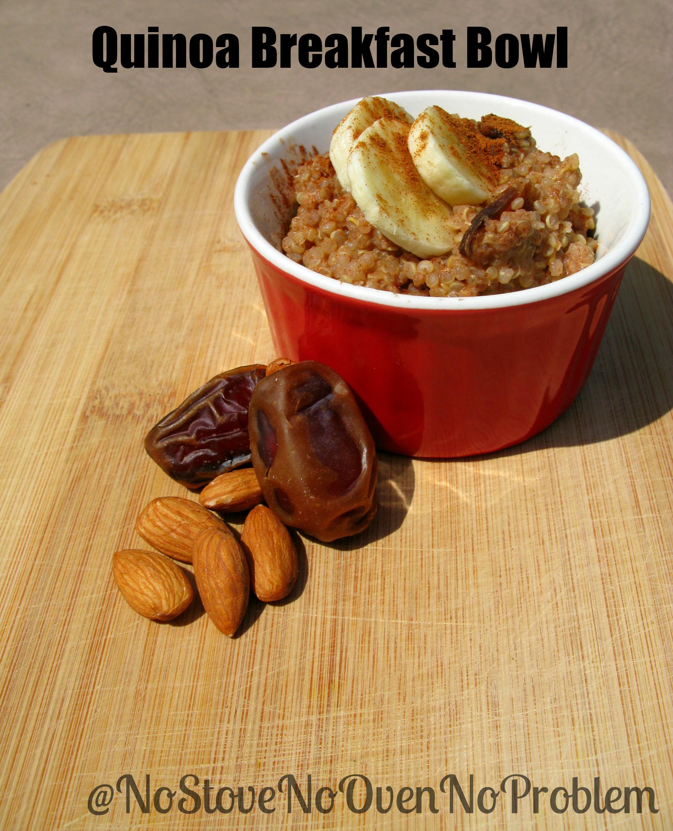 Mmmm Mondays~ Quinoa Breakfast Bowl | NoStove.NoOven.NoProblem
