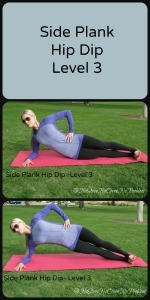 Side Plank Hip Dip Level 3