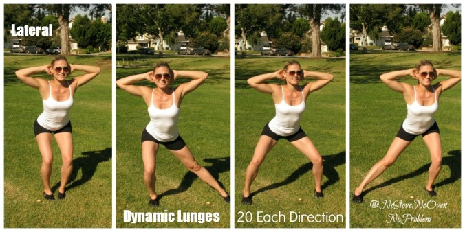 Lateral Walking Lunges