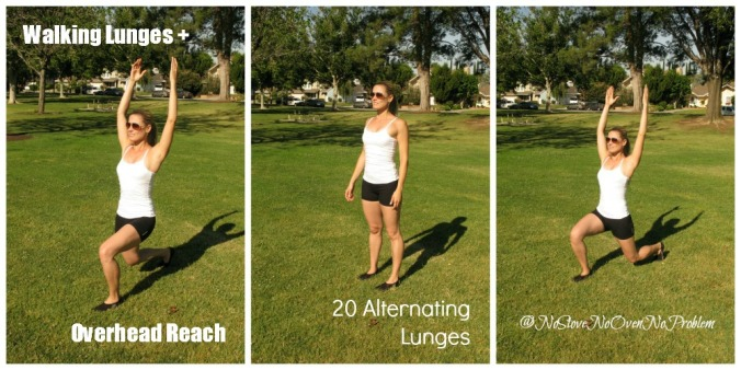Walking Lunges with Overhead Reach