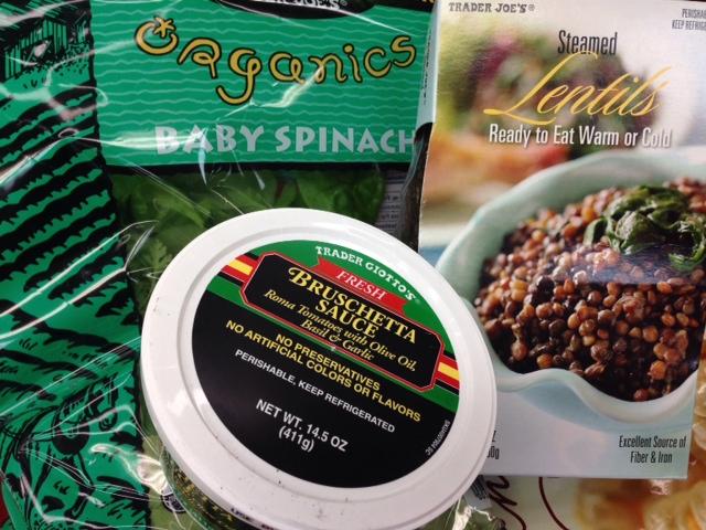 spinach lentil salad