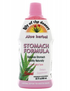 Photo Cred- http://www.lilyofthedesert.com/product/aloe-herbal-stomach-formula/